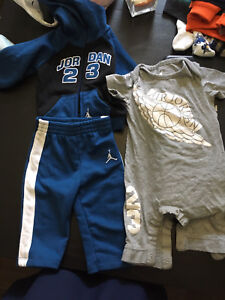 6-9 month Jordan sweatsuit and one piece outfit