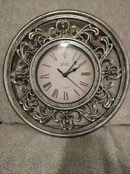 ECW Co. Gray - Decorative Design Plastic Wall Clock - 12 - Roman Numeral