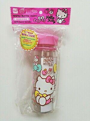 Hello Kitty Water Bottle 350 ML Sanrio 2017 Pink Lid BPA Free Cute Kids