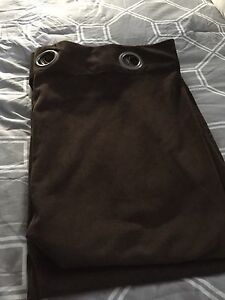 Pair of chocolate brown curtains
