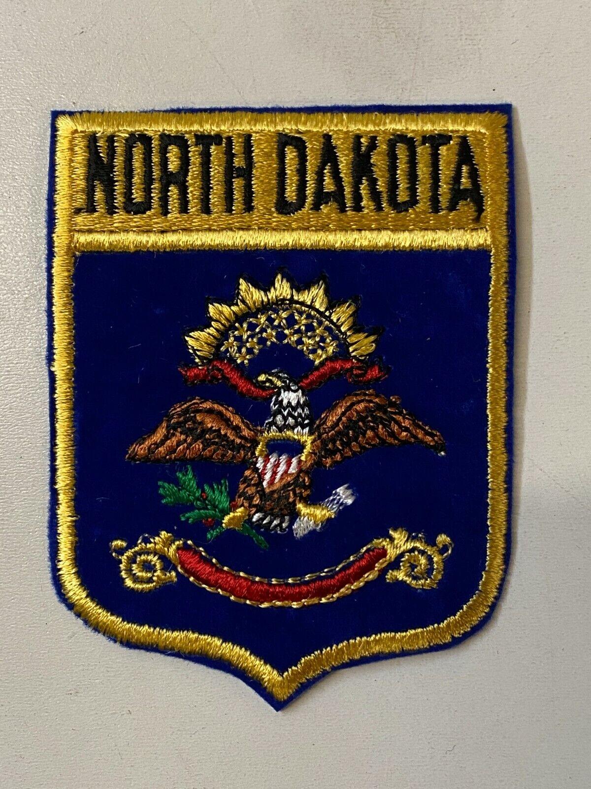 North Dakota Aufnäher, USA US Bundesstaaten Aufbügler, Patch, ca 9,5x7,5 cm