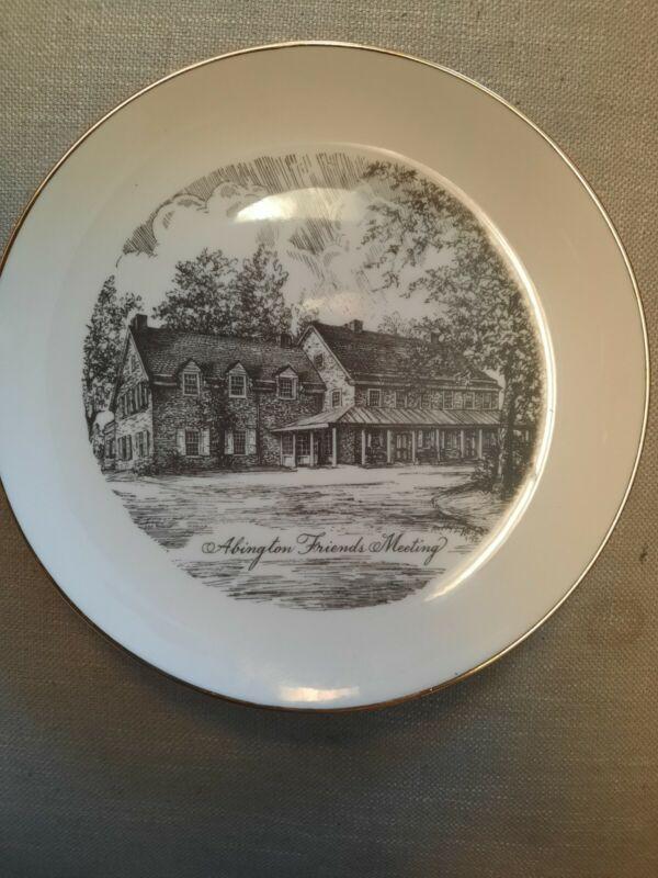 Abington Friends Meeting plate
