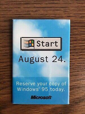 VINTAGE-RARE-Start August 24. Microsoft Windows 95 Demo Promotional Button
