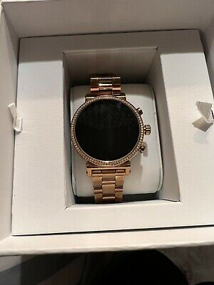 Used Ladies Michael Kors Smartwatch Golden Rose- No Scratches