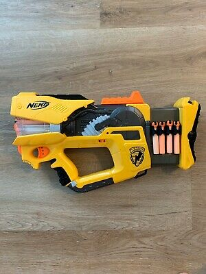 Nerf N-Strike Firefly Rev-8 Blaster Gun with Lights And 16 Velcro Darts