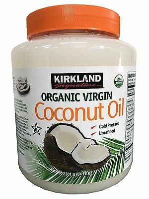Kirkland Integral Virgin Coconut Oil Unrefined Cold Pressed Chemical Free 84 oz