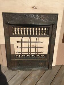 Antique Wrought Iron Fireplace Insert