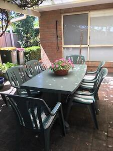 OUTDOOR DINING TABLE AND 6 CHAIRS Hope Valley Tea Tree Gully Area Preview