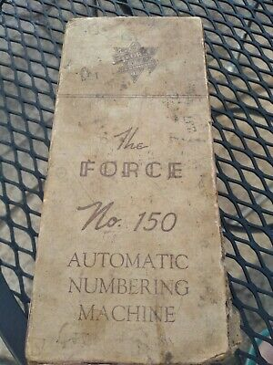 Vintage The Force No 150 Automatic Numbering Machine In Box - Grocery Store