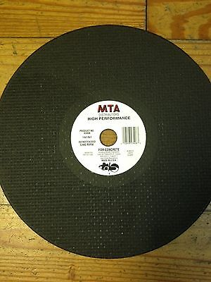 """New Type 1 Cutoff Wheel for Concrete  fits 14"""" High Speed Gas & Electric Saws"""