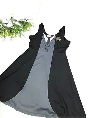Harry Potter Dress Hogwarts Robe Black and Gray Tank Mini Dress size Large Women