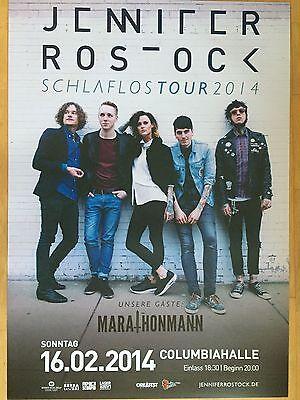 JENNIFER ROSTOCK 2014 BERLIN - orig.Concert Poster  --  Konzert Plakat  A1 NEU
