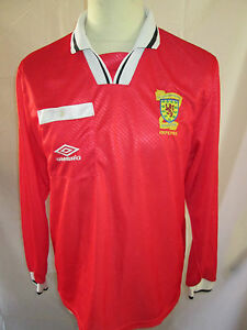 Scotland-1988-1990-SFA-Referees-Football-Shirt-Size-Large-long-sleeves
