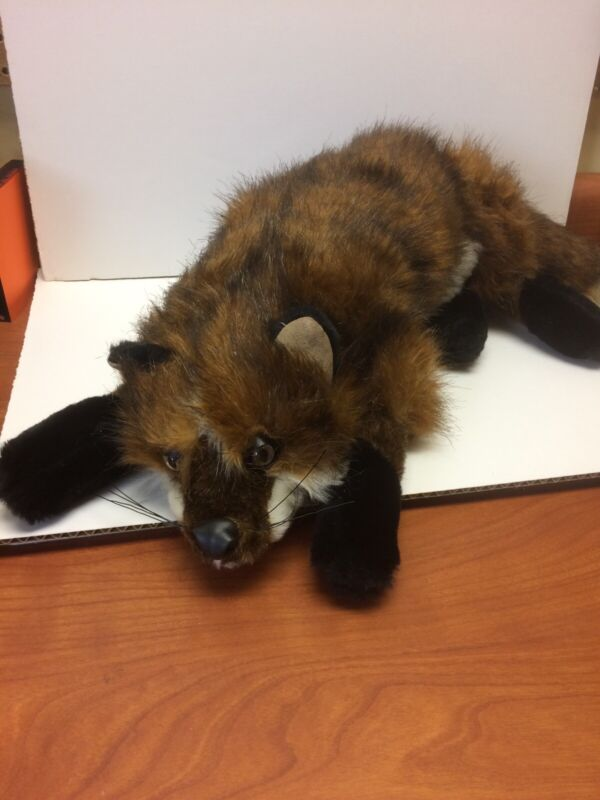 Ditz Designs Realistic Fox Plush Red Brown Coat Black Paws White Underbelly