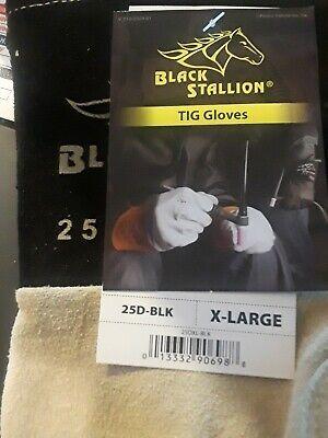 Black Stallion 25d-blk Premium Deerskin Tig Welding Gloves X-large