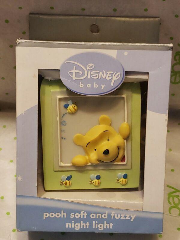 Disney Baby Winnie-the-Pooh Soft And Fuzzy Plug In Night Light NIB Works!