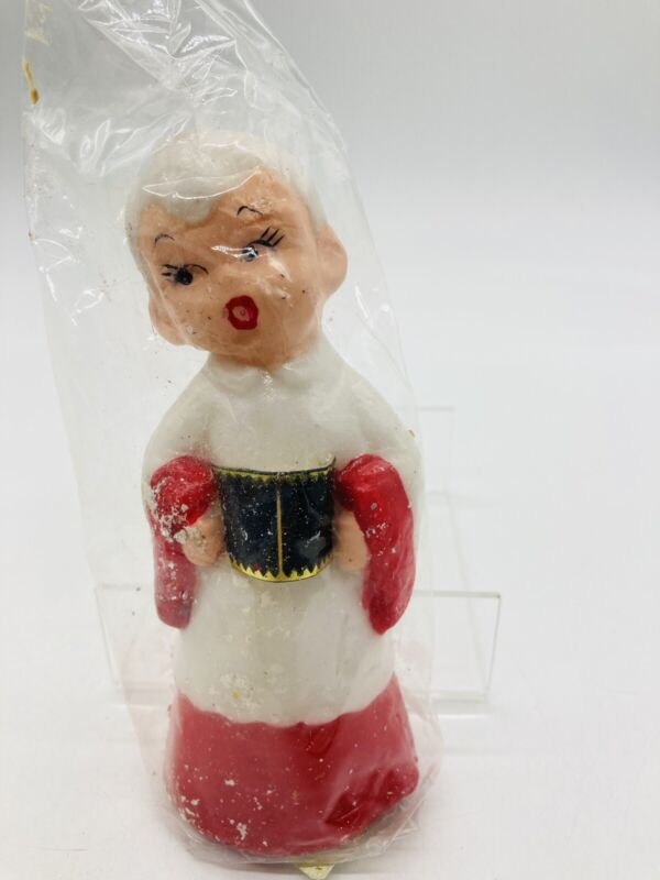 Vintage Choir Boy Candle Christmas Holiday Decor Made in Japan