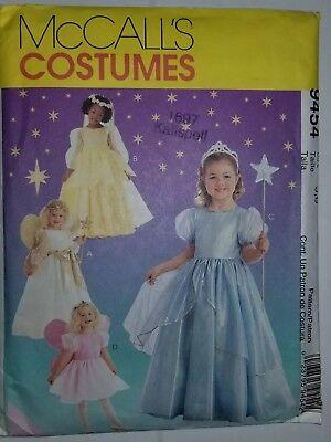 Kostüm Engel Prinzessin Kleid Kinder 5 7 Nähen Muster 9454 Mccalls UC Ff - Engel Kostüm Muster