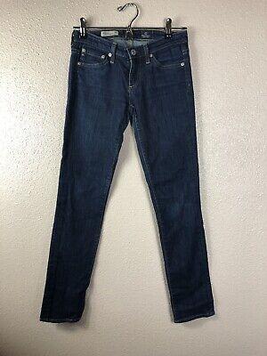 Stilt Cigarette Leg (AG Adriano Goldschmied The Stilt Cigarette Leg Blue Denim Jeans Size 24)