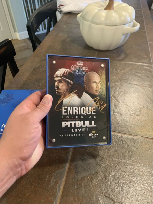 Pitbull & Enrique Iglesias Signed Photo