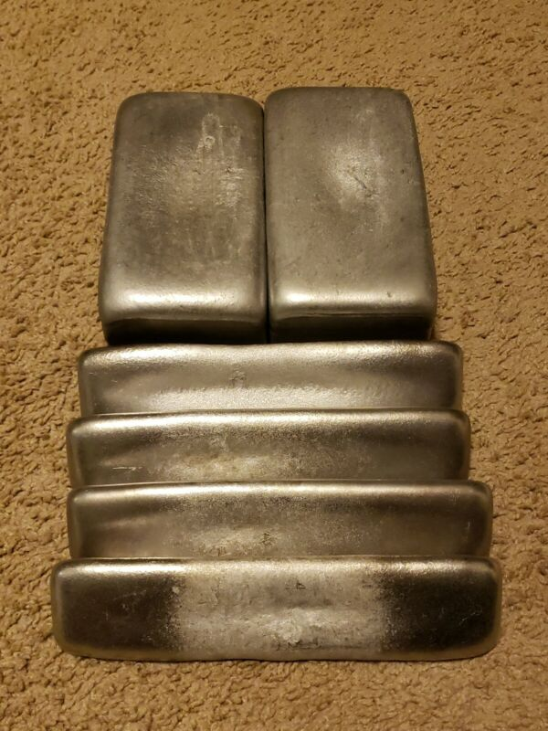 Aluminum Ingots hand poured  15 LBS