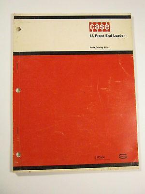 Case 65 Front End Loader Parts Catalog B1282 Manual 1978