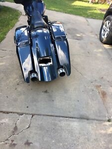 Harley stretched bags and fender
