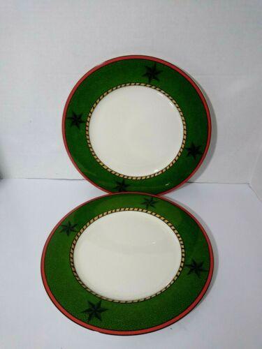 "Vtg Set of 2  ASTRAKAN by SASAKI 12""  Dinner, Serving Plates Discontinued RARE"