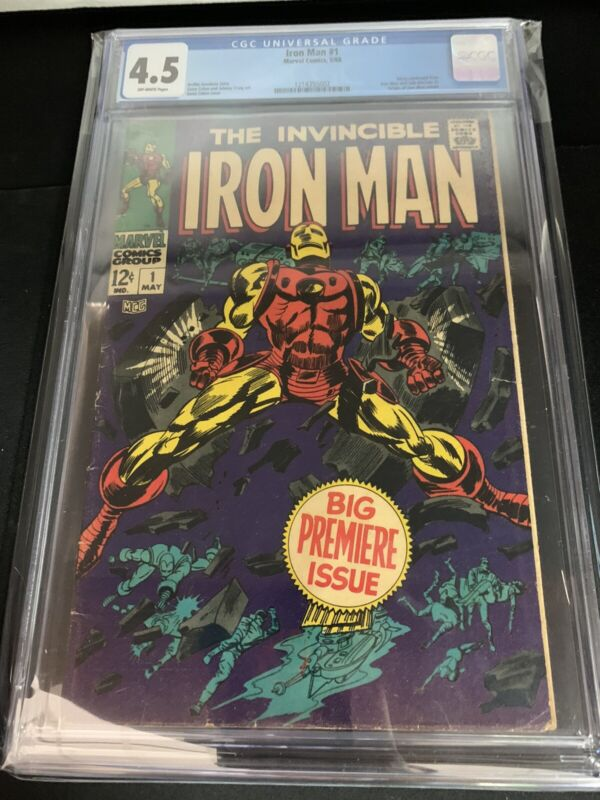 Invincible Iron Man 1 CGC 4.5 (1968) OFF WHITE PAGES!