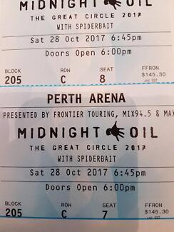 2 x Midnight Oil Tickets
