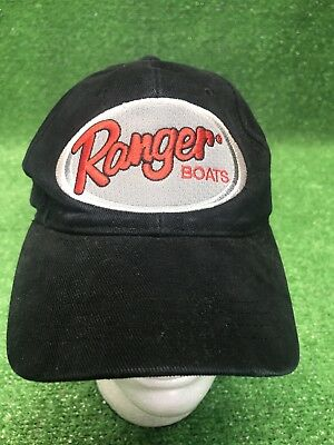 Ranger Bass Fishing Boats Black Adjustable Hat Cap Fast Free Shipping wow