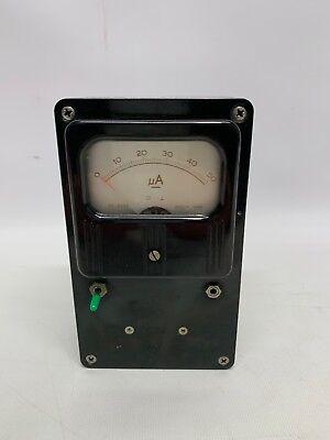 1 Lafayette Ua Amperage Panel Meter 99-5042 Nice Condition 0-50 Amp Ua
