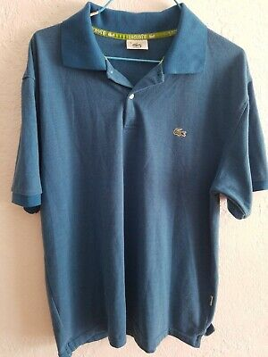 Lacoste Polo Shirt 7 XL Blue 100% Cotton Short Sleeve