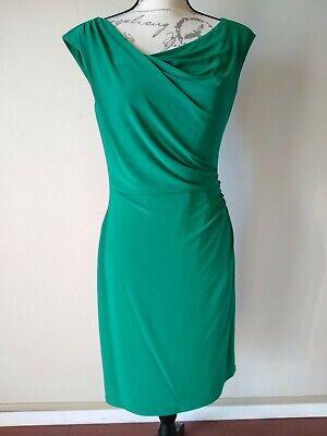 LAUREN Ralph Lauren Dress Women Knit Midi Sheath Dress Sleeveless Green Sz.10