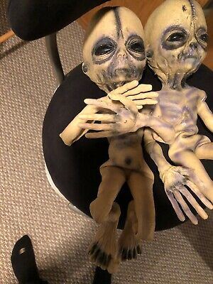 Rare Halloween Posable Alien Latex And Rubber Spirit Gemmy - Rubber Alien Prop