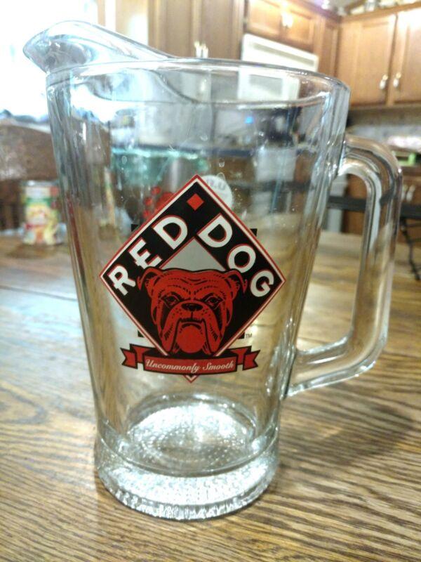 RED DOG BEER Miller Plank Brewing Beverage Pitcher Vintage