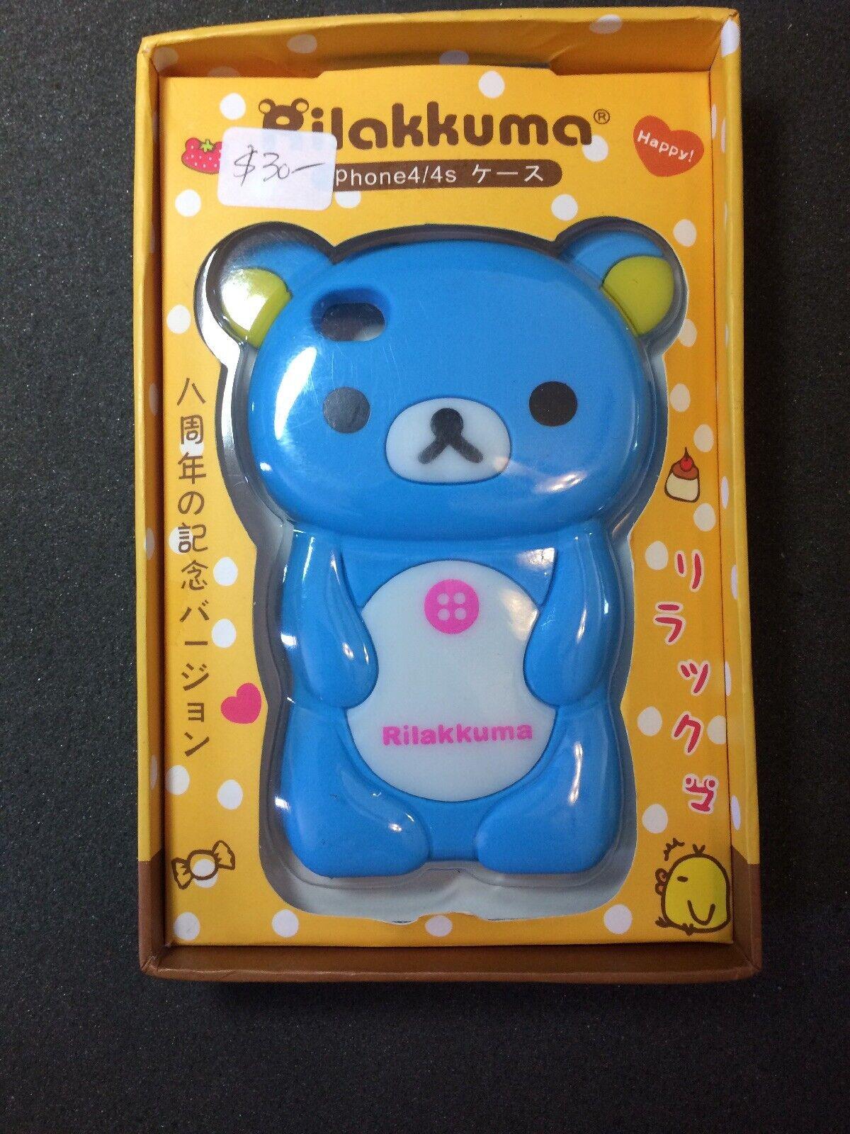 IPhone 4 4S 3D 'Rilakkuma Bear' Soft Silicone Case Cover -Blue   eBay