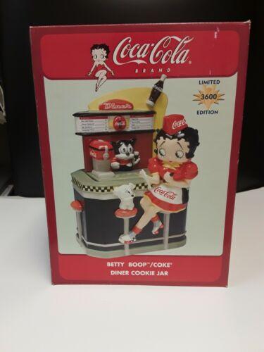 BETTY BOOP Coca Cola Diner  - Vandor Ceramic Cookie Jar