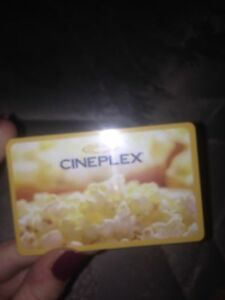 Cineplex card for sale