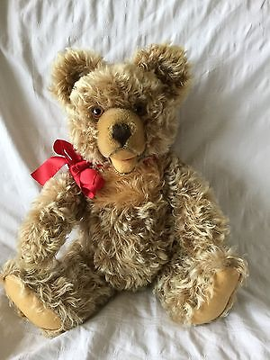 Lovely  old  large  60s vintage Steiff Zotty Teddy Bear.