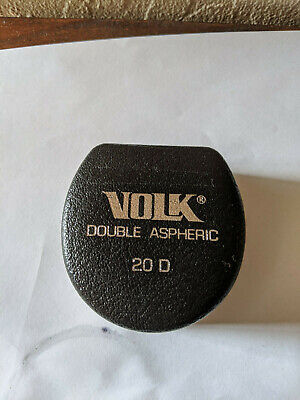 Volk 20d Double Aspheric Ophthalmoscope Diagnostic Lens W Case