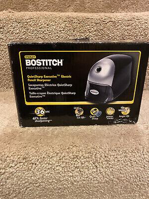 Bostitch Quietsharp Executive Electric Pencil Sharpener Black 16e