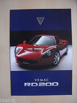 Tokyo R&D Vemac RD200 Prospekt / Brochure, Japan, sehr selten / very rare! online kaufen