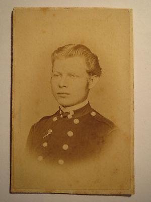 Olbernhau - Soldat ? Beamter ? in Uniform - Portrait / CDV