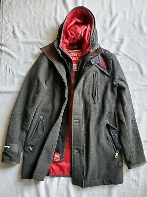 British SUPERDRY Premier Parka Jacket military pea coat hype beast supreme board