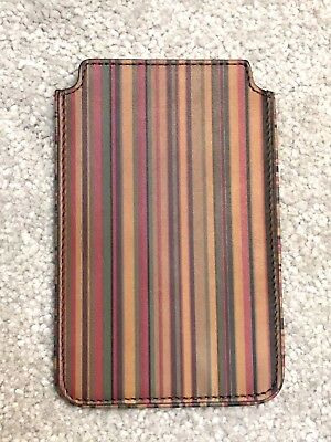 Geldbörsen & Etuis Paul Smith Signature Multi Stripe Leather Phone Pouch Business Card Holder Bnwt