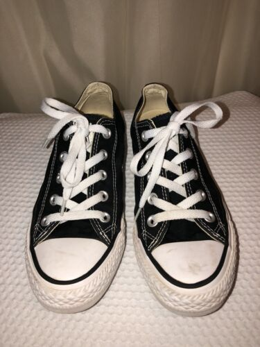 Converse Chuck Taylor All Star Black Canvas Low Top Shoes Size Mens 4 Womens 6