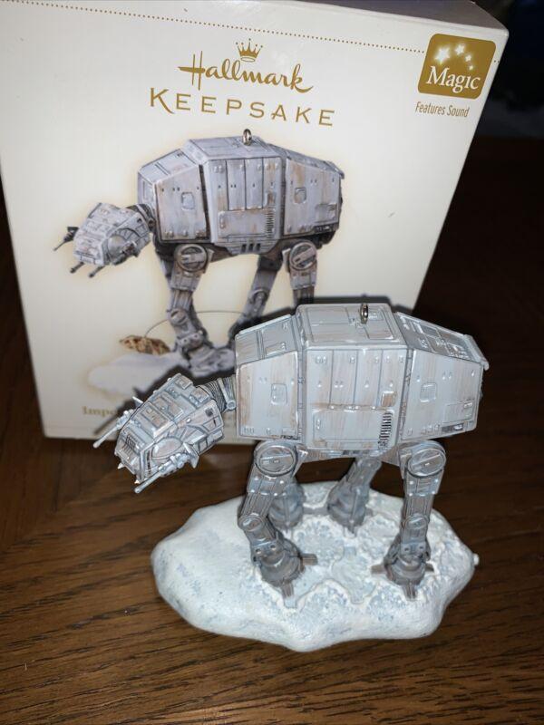 Star Wars (Keepsake Ornament) Imperial AT-AT NORebel Snowspeeder (Hallmark 2006)