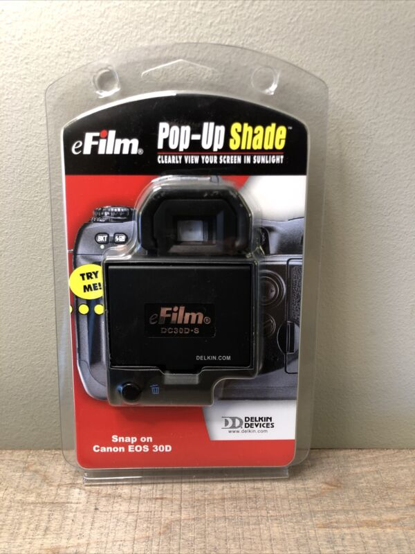 Delkin Snap-On Pop-Up Shade for Canon EOS 30D - DC30D-S New Sealed