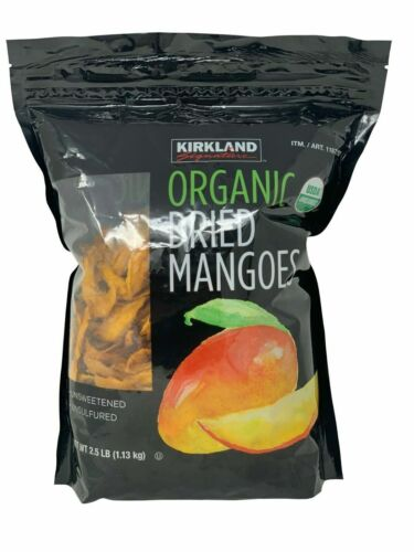 Kirkland Signature Organic Dried Mangoes Unsweetened & Unsulfured 2.5 LB